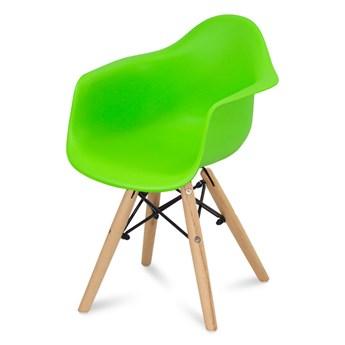 Krzesło dla dzieci krzesełko dziecięce na drewnianych bukowych nogach zielone 211 AB