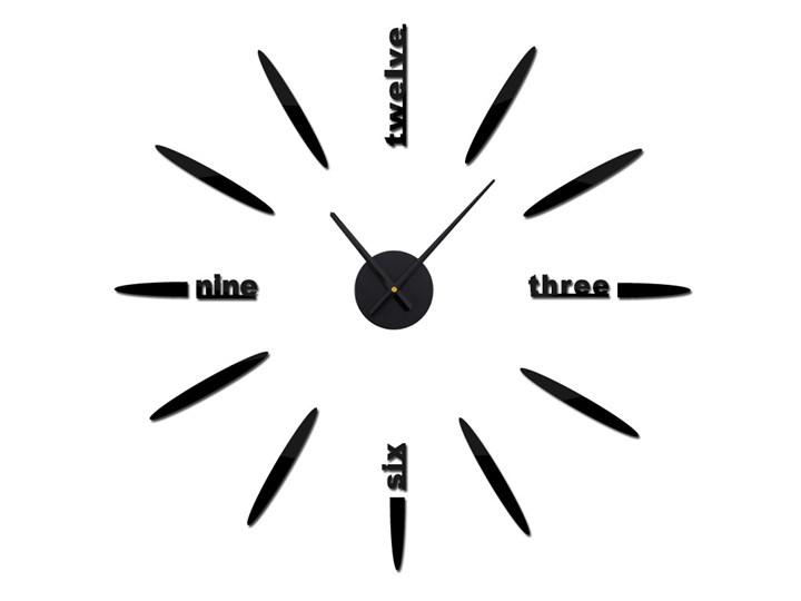 Zegar Naklejany Na ścianę 3d Z Małymi Wskazówkami Czarny
