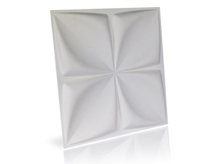 Panel ścienny dekoracjny na ścianę 3D z włókniny ozdobny biały ARYL