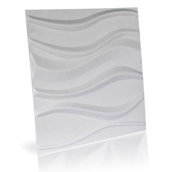 Panel ścienny dekoracjny na ścianę 3D z włókniny ozdobny biały LAKE