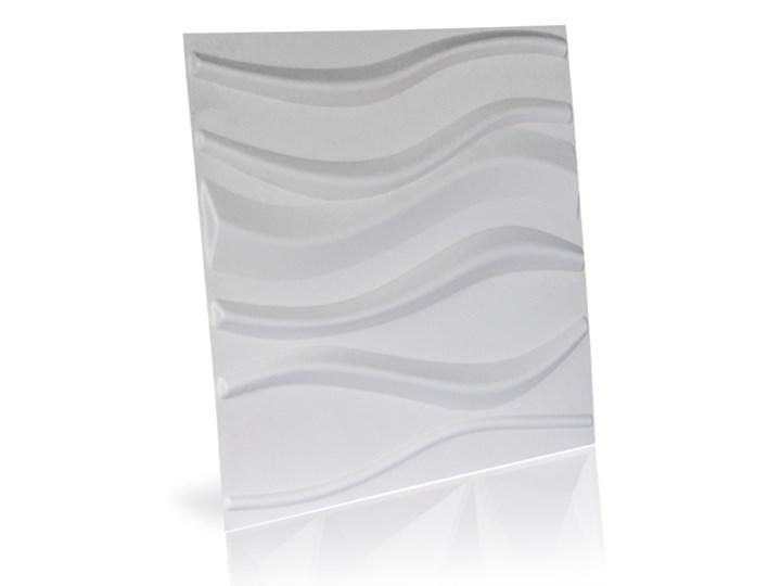 Panel ścienny dekoracjny na ścianę 3D z włókniny ozdobny biały LAKE Drewno Kategoria Panele 3D