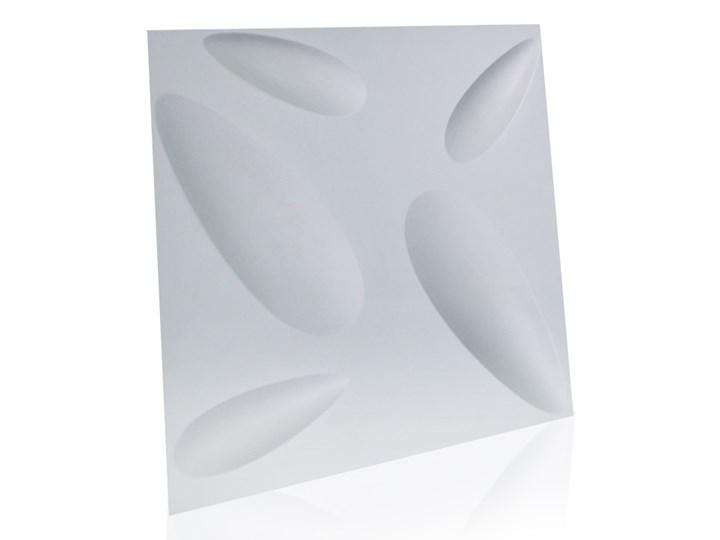 Panel ścienny dekoracjny na ścianę 3D z włókniny ozdobny biały PA-BILY