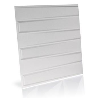 Panel ścienny dekoracjny na ścianę 3D z włókniny ozdobny biały BLADET