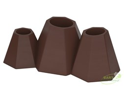Donica z polietylenu MONT ST-MONT40-PD czekolada