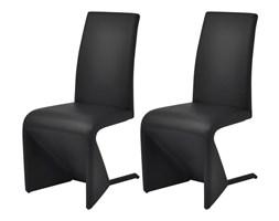 vidaXL Krzesła stołowe, 2 szt., czarne, sztuczna skóra