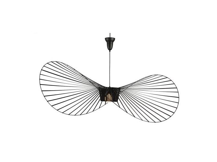 Lampa Capello z wygiętym kloszem insp. Vertigo Tworzywo sztuczne Lampa druciana Styl Nowoczesny Stal Metal Lampa z kloszem Kolor Czarny