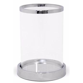 """Świecznik szklany z metalem wybierz rozmiar """"Metaxa"""" 20x14,5x14,5cm"""