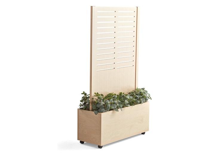 Ścianka działowa FREE, drewniana ze skrzynką na rośliny, 1720x983 mm, brzoza