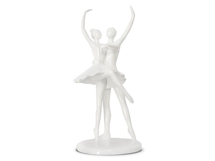 Biała rzeźba pary Balenc 28 cm Ludzie Tworzywo sztuczne Kolor Szary