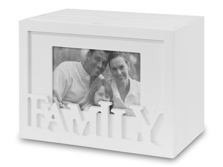 Album na zdjęcia Family - kuferek  na 96 zdjęć Kolor Szary Drewno Kategoria Ramy i ramki na zdjęcia