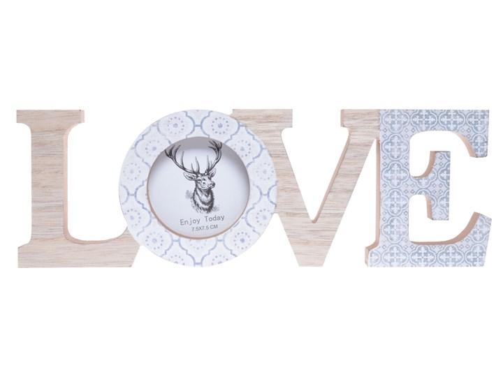 Napis ozdobny LOVE z ramką na zdjęcia Kolor Szary Drewno Kategoria Ramy i ramki na zdjęcia