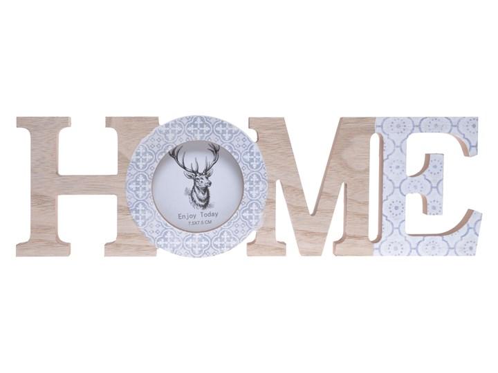 Napis ozdobny HOME z ramką na zdjęcia Drewno Kategoria Ramy i ramki na zdjęcia Kolor Szary