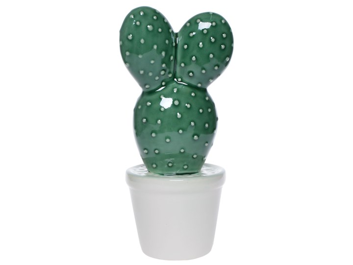 Porcelanowy kaktus ozdobny Finds Rośliny Ceramika Kolor Zielony Kategoria Figury i rzeźby