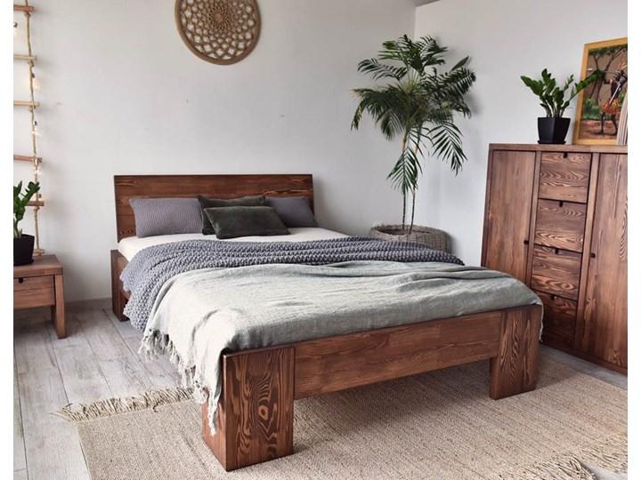 Łóżko Drewniane Sosnowe Marika II - 140 Pojemnik na pościel Bez pojemnika Kolor Beżowy