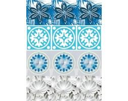 Naklejki Kafelki kwiaty blue SPN488WS