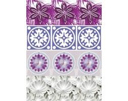 Naklejki Kafelki kwiaty purple SPN489WS