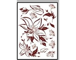 Naklejka Brązowy kwiat SPJY009
