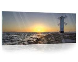 Obraz na szkle  Wiatrak , Morze i Słońce GT10110G6