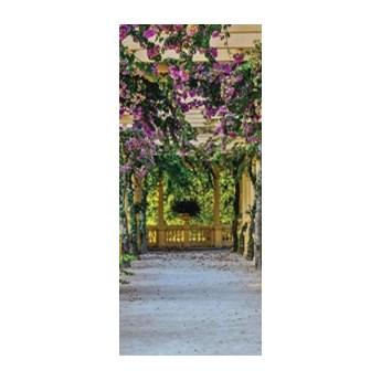 Fototapeta na drzwi Taras z kwiatami 10896VET/SKT