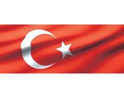 Fototapeta na flizelinie Powiewająca flaga Turcji 489VEP