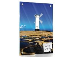 Obraz magnetyczny na szkle    Wiatrak na skalistym wybrzeżu  GMT20067G3