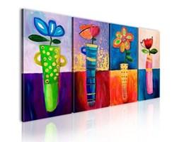 Obraz ręcznie malowany - Tęczowe kwiaty 22370