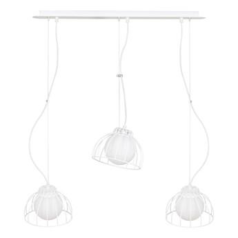 ARIA 3 WHITE 741/3 lampa wisząca regulowana loft druciak biały klosz
