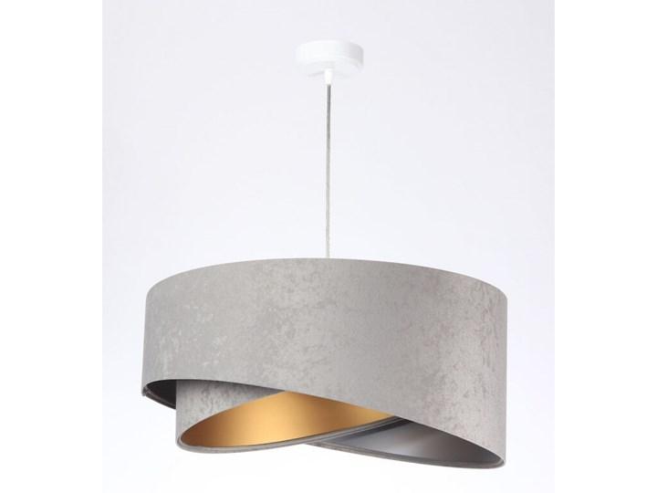 Lampa wisząca Awena Szara Mix apla Lampa z abażurem Tkanina Styl Nowoczesny