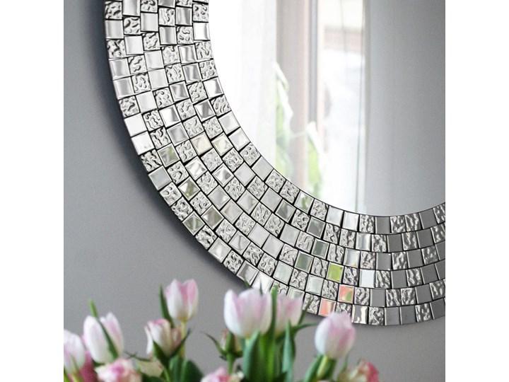 Lustro dekoracyjne AUREA EXCLUSIVE Okrągłe Styl Glamour Lustro z ramą Ścienne Kategoria Lustra