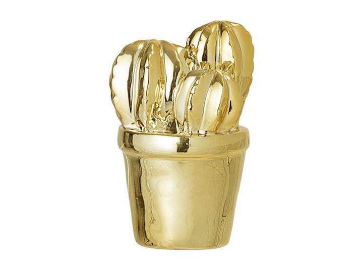 Figurka dekoracyjna Cactus 9 cm złota