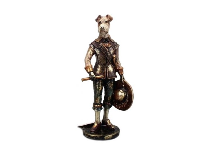 Figurka dekoracyjna Musketeer Dog 7x21 cm