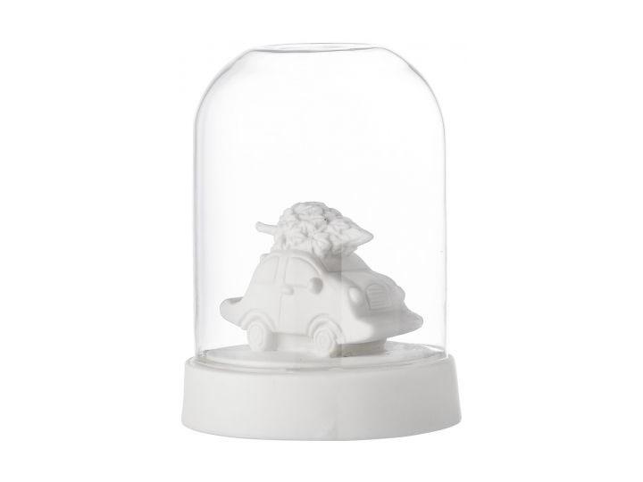 Figurka dekoracyjna świecąca Bil Ø9x12 cm biała