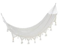 Hamak ogrodowy Tassel 220x130 cm biały