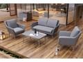 Meble ogrodowe MONZA royal szare Zawartość zestawu Stolik Technorattan Tworzywo sztuczne Aluminium Zawartość zestawu Fotele