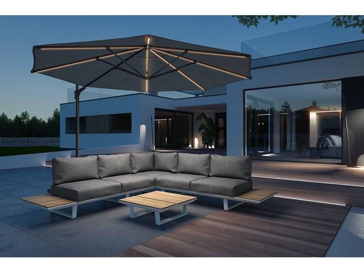 Meble ogrodowe CORIA I light grey Zawartość zestawu Z sofą Zestawy wypoczynkowe Zawartość zestawu Ze stołem