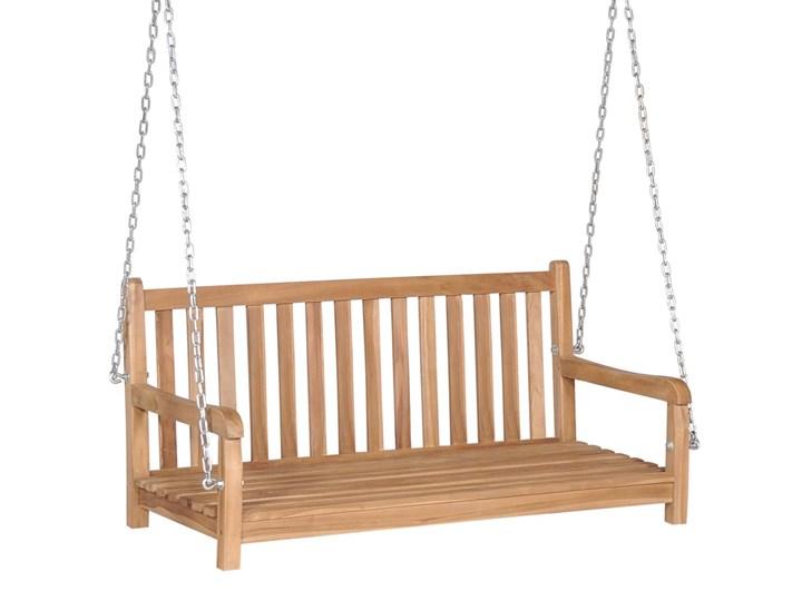 vidaXL Huśtawka ogrodowa, lite drewno tekowe, 120x60x57,5 cm, brązowa Kategoria Huśtawki ogrodowe Kolor Brązowy