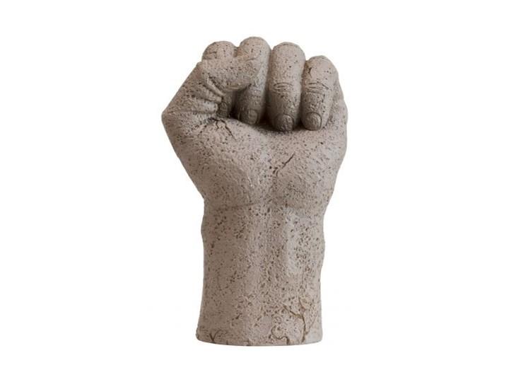 Figurka dekoracyjna Serafina Fist 11x17 cm beżowa
