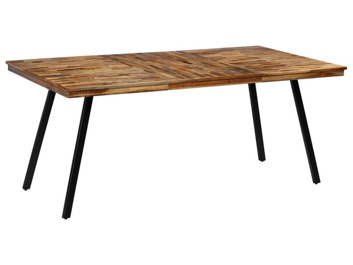 vidaXL Stół do jadalni, odzyskane drewno tekowe i stal, 180x90x76 cm