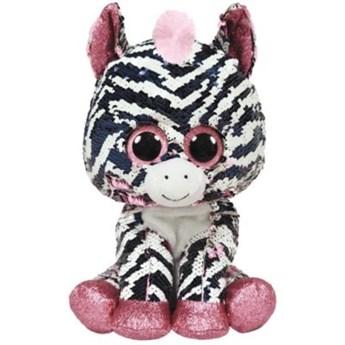 Maskotka TY INC Beanie Boos Flippables - Zoey różowa zebra z cekinami