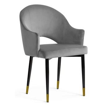 Krzesło GOA aksamit szary BL14 / czarno-złoty