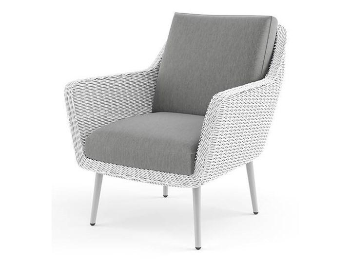 Meble ogrodowe MONZA royal białe Stoły z krzesłami Tworzywo sztuczne Technorattan Zestawy wypoczynkowe Kolor Szary Aluminium Kolor Biały