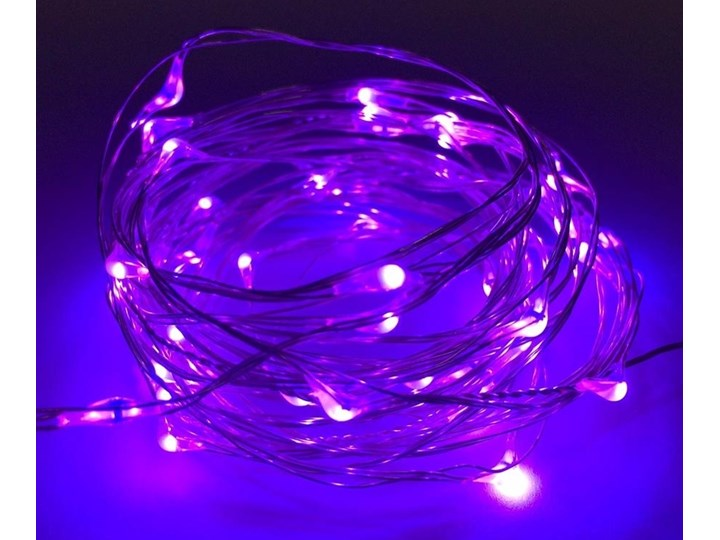 Lampki Led Zew Ip65 łezki 5m 50led Fioletowe