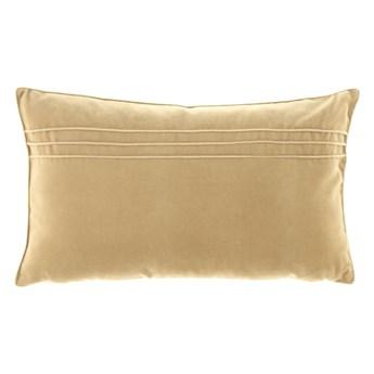 Poduszka Beżowa dekoracyjna z aksamitu JULIA