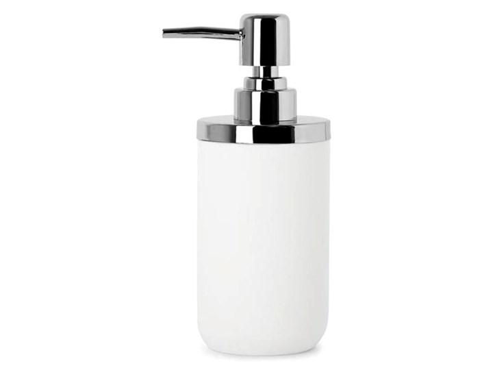 Dozownik do mydła 7x17,8cm Umbra Junip biało-srebrny kod: 1008027-153 Stal Żywica Dozowniki Kolor Biały