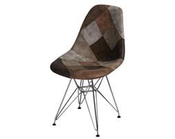 Krzesło P016 DSR patchwork D2 beżowo-brązowe kod: 5902385722698
