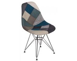 Krzesło P016 DSR Patchwork D2 niebiesko-szare kod: 5902385722674