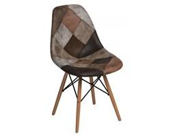Krzesło P016W patchwork D2 beżowo-brązowe kod: 5902385722711