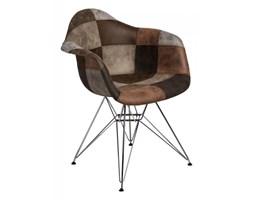 Krzesło P018 DAR patchwork D2 beżowo-brązowe kod: 5902385722827