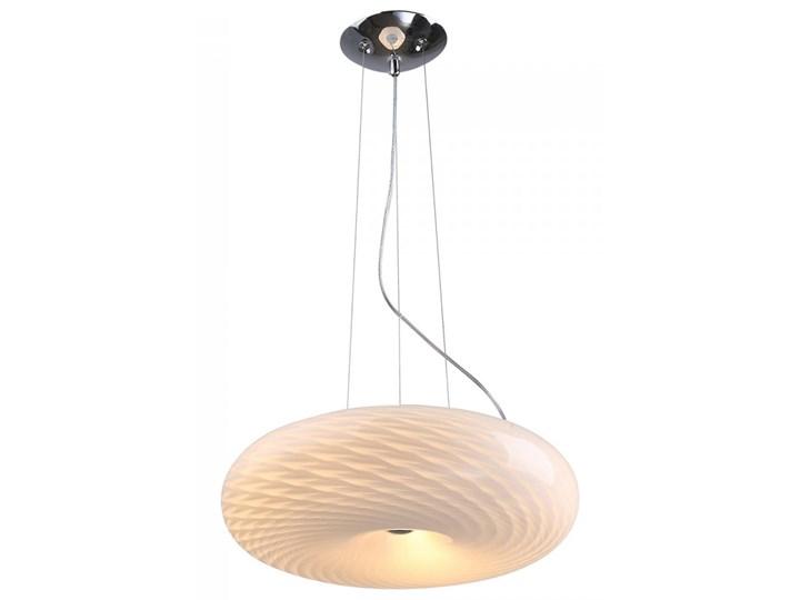 Lampa wisząca Opal Deluxe Lampex mleczno biała kod: 632W48