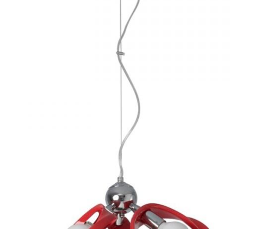 ec5622b7767 Żyrandol Emma 3 Lampex czerwony kod: 414/3Z CZE - Lampy wiszące - zdjęcia,  pomysły, inspiracje - homebook